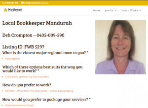 Local Bookkeeper Online Digital Profile for Social Media Marketing