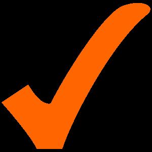 orange tick