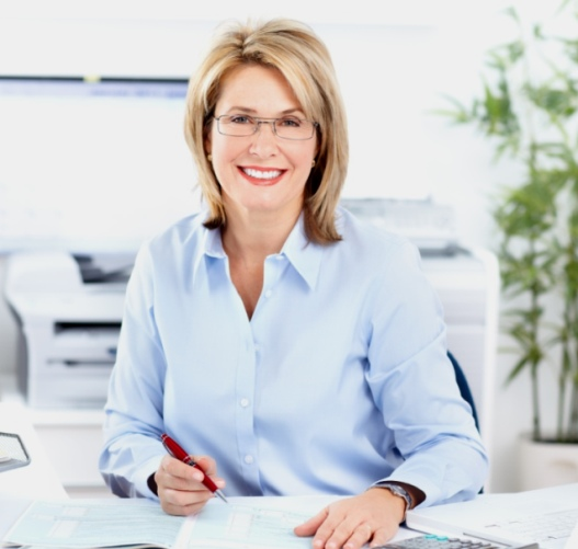 woman working as a finance manager